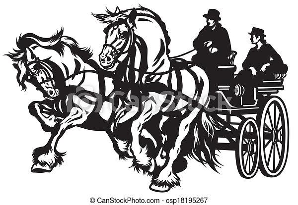 cavalo, carruagem - csp18195267