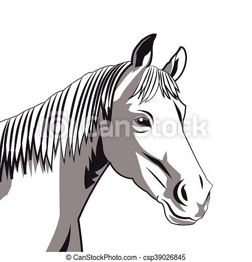 cavalo desenho ícone apartamento cavalo ilustração vetorial