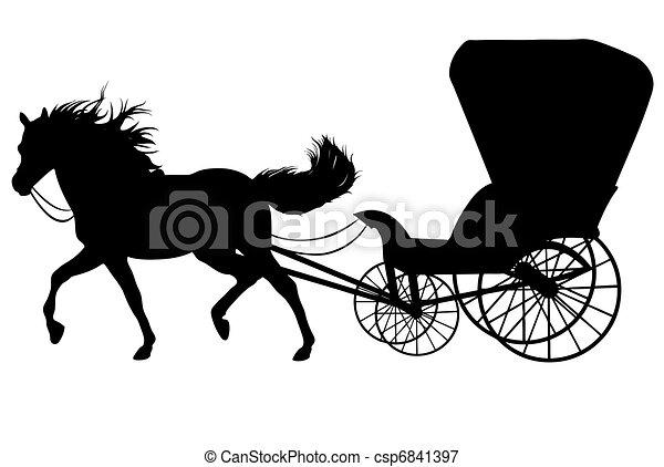 cavalo, silueta - csp6841397