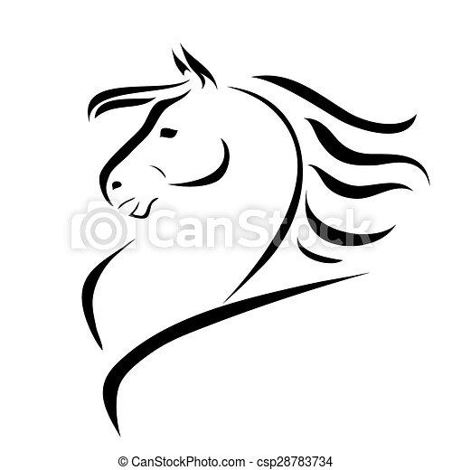 cavalo vetorial desenho cavalo stylized vetorial figura