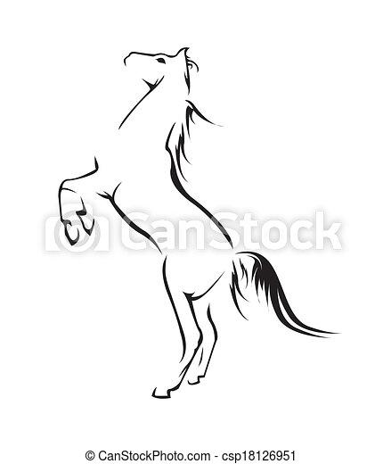 cavalo, vetorial, símbolo, ilustração - csp18126951