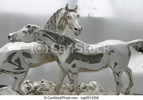 cavalos, prata - csp0513356