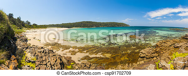 Cave Beach Panorama in Australian New South Wales - csp91702709