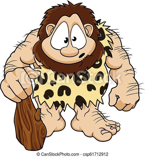 caveman, carattere, cartone animato - csp61712912