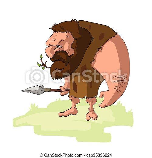 caveman, cartone animato - csp35336224