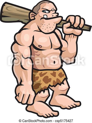 caveman, cartone animato - csp5175427
