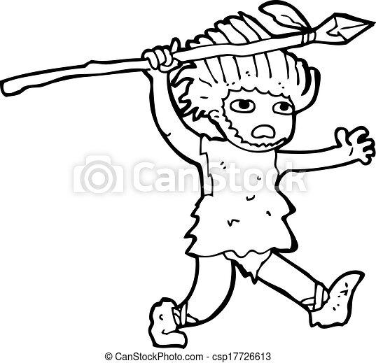 caveman, cartone animato - csp17726613