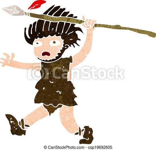 caveman, cartone animato - csp19692605