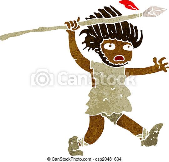 caveman, cartone animato - csp20481604
