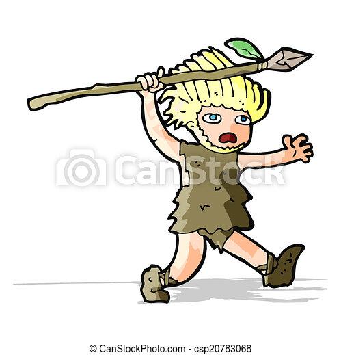 caveman, cartone animato - csp20783068