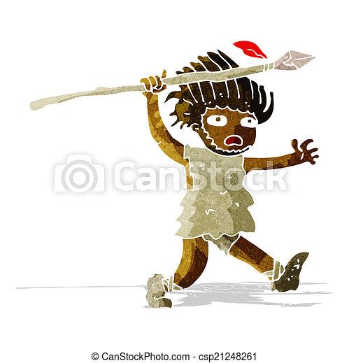 caveman, cartone animato - csp21248261