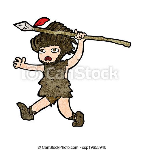 caveman, cartone animato - csp19655940