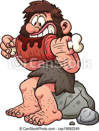 caveman, cartone animato - csp19982249