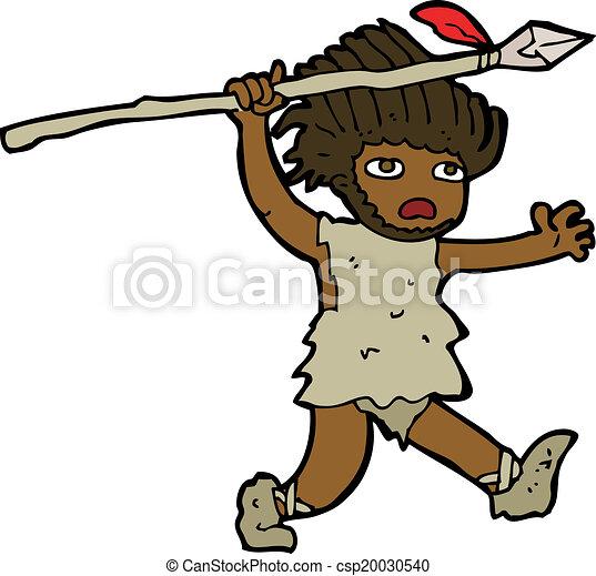 caveman, cartone animato - csp20030540