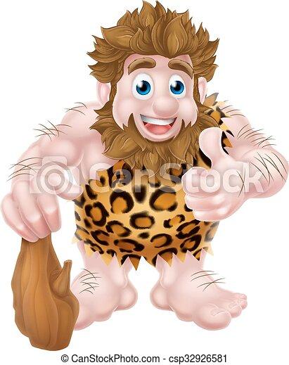 caveman, cartone animato - csp32926581