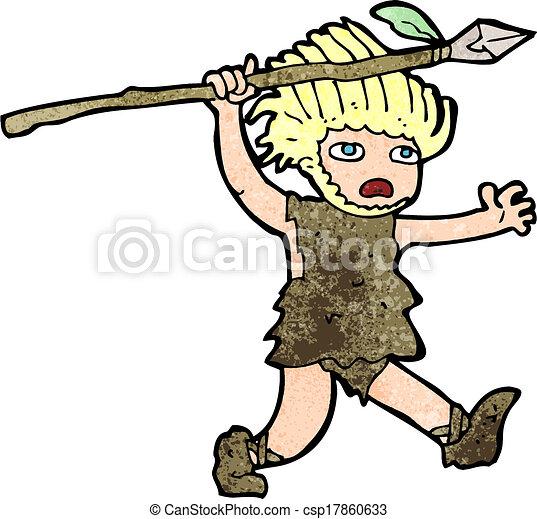 caveman, cartone animato - csp17860633