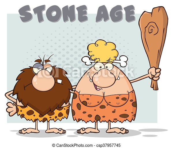 caveman, coppia, caratteri - csp37957745
