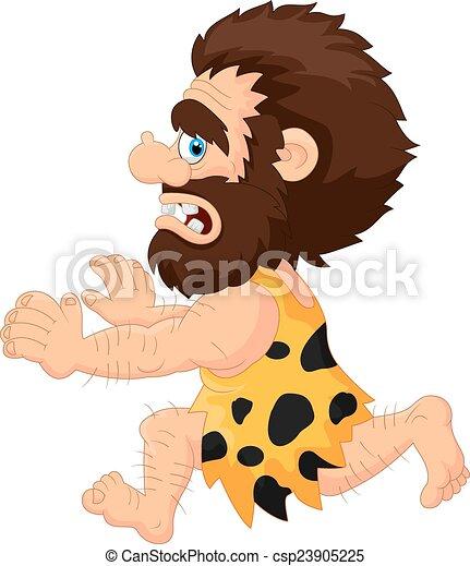 caveman, correndo - csp23905225