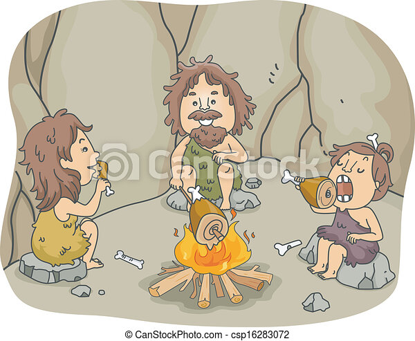 Caveman Family Meal - csp16283072