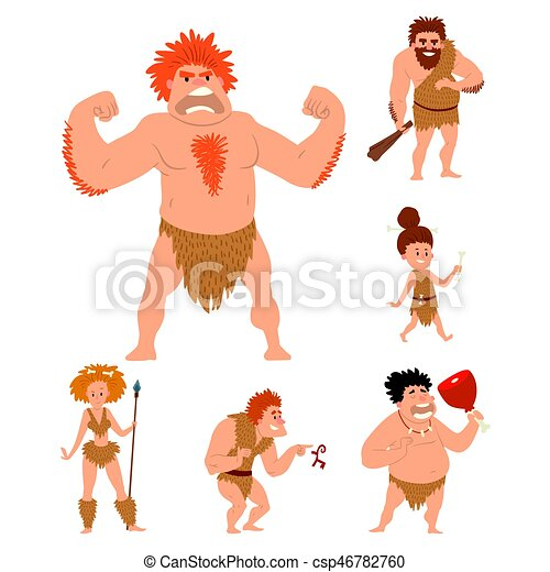 caveman primitive stone age cartoon neanderthal people character rh canstockphoto com primitive country clipart primitive country clipart