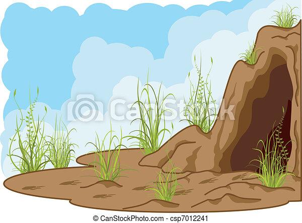 caverna, paesaggio - csp7012241