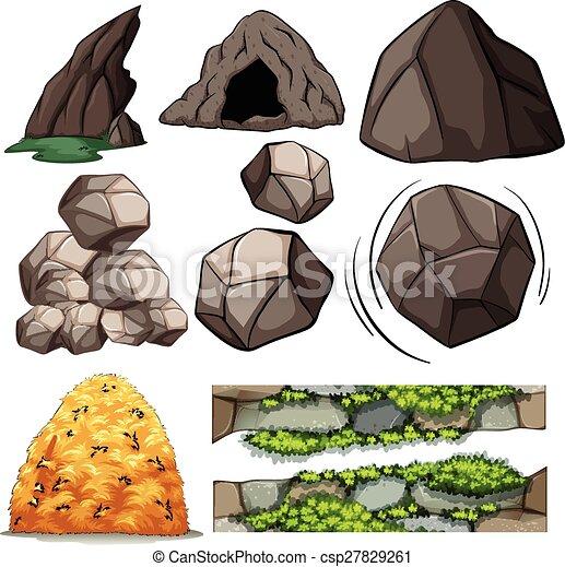 caverna, pedras - csp27829261