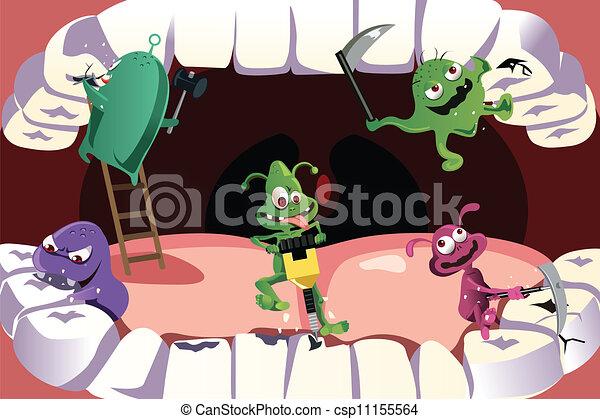 Cavidad de dientes - csp11155564