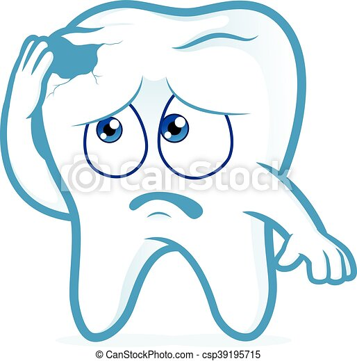 Dientes en dolor con caries - csp39195715