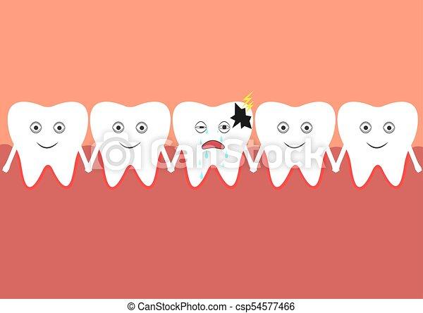 cavità, numero, ammalato, denti, orale - csp54577466