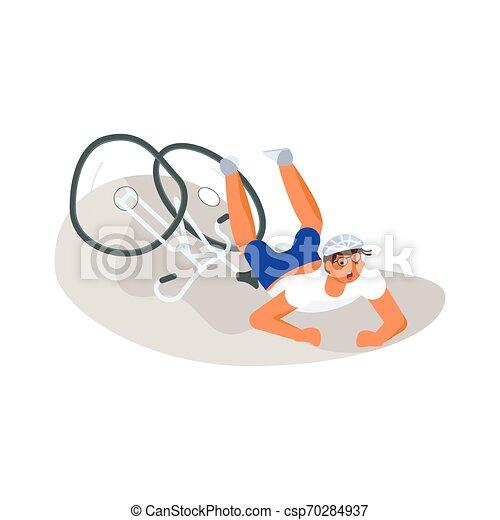 El ciclista se cayó del ciclo - csp70284937