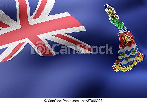 Cayman Islands flag waving - csp87066027