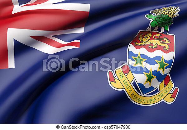 Cayman Islands flag waving - csp57047900