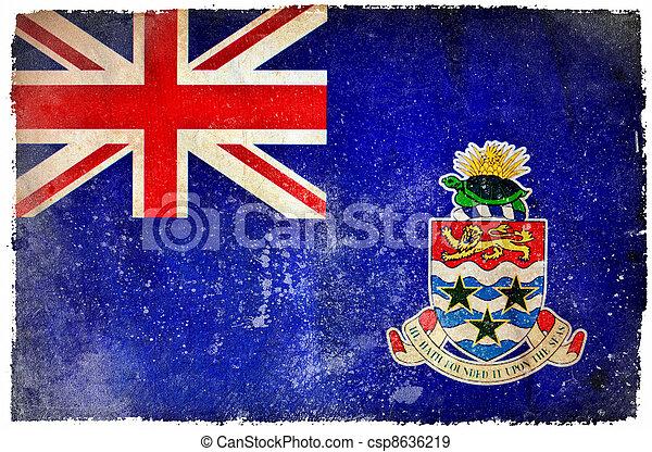 Cayman Islands grunge flag - csp8636219