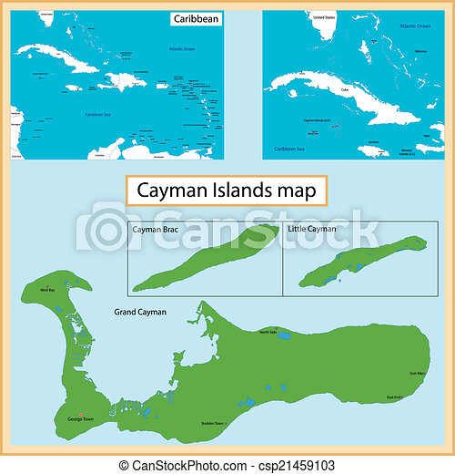 Cayman islands map Map of the cayman islands islands drawn