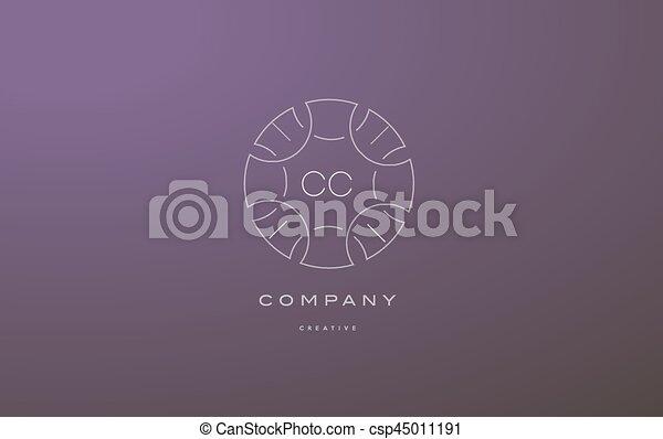 Cc C C Monogram Floral Line Art Flower Letter Company Logo Icon Design Cc C C Monogram Lineart Vintage Retro Flower Alphabet