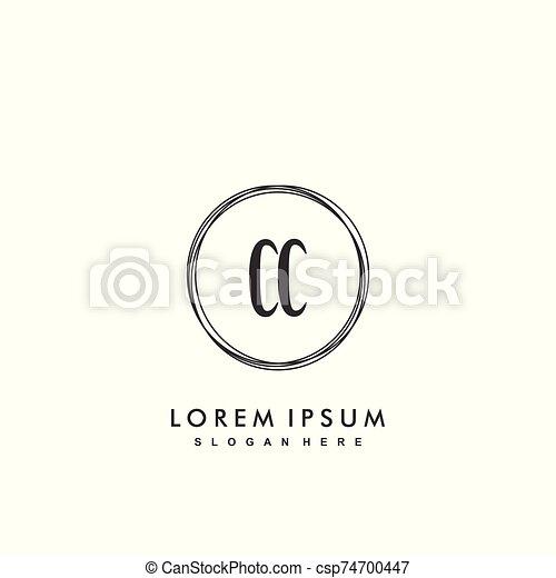 Cc Initial Beauty Monogram Logo Vector Initial Beauty Monogram Luxry Logo
