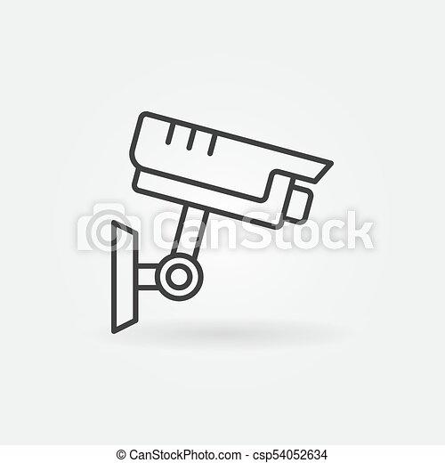 Cctv Outline Icon Vector Security Camera Symbol Cctv Vectors