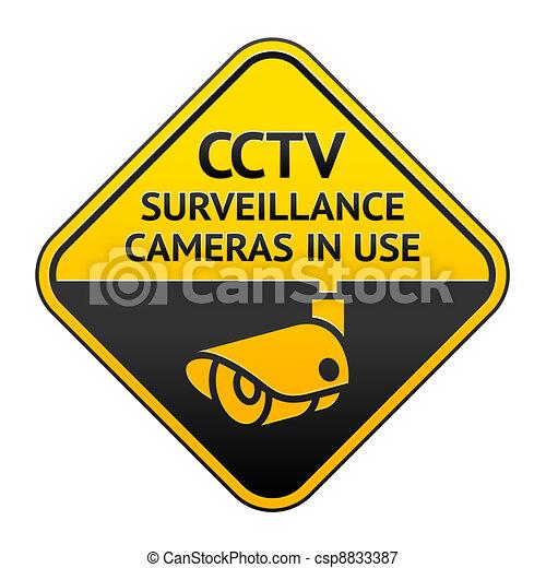 CCTV pictogram, video surveillance symbol - csp8833387