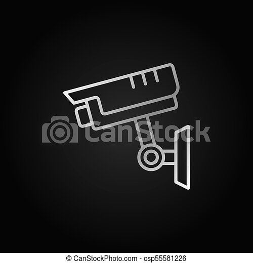 Cctv Silver Icon Vector Security Camera Symbol Cctv Vector