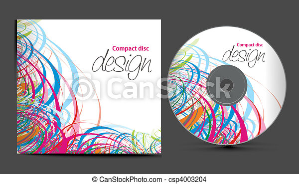 Vector cd cover design template with copy space vector for Cd case artwork template