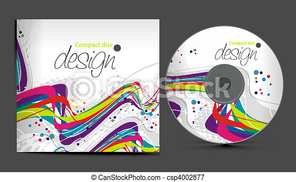 vector cd cover design template with copy space vector illustration