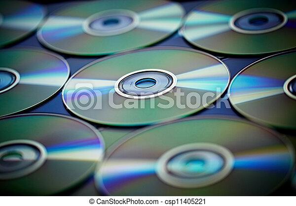 CD, DVD & Blu-ray - csp11405221