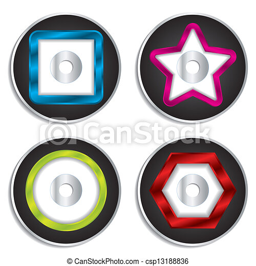 cd dvd labels with shapes csp13188836