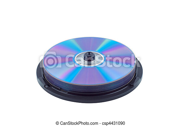 CD isolated on white background. - csp4431090