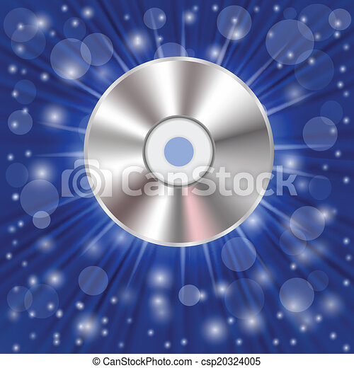 CD on a blue background - csp20324005