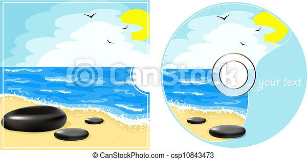 cd, vista, mare, etichetta - csp10843473
