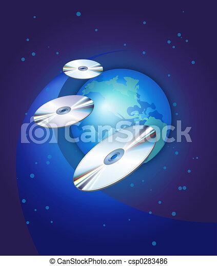CDs & GlobeCDs & Globe - csp0283486