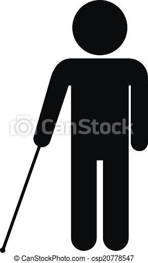 cego, incapacitado, ícone - csp20778547