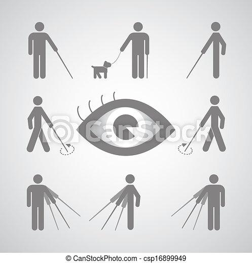 cego, símbolo, homem - csp16899949