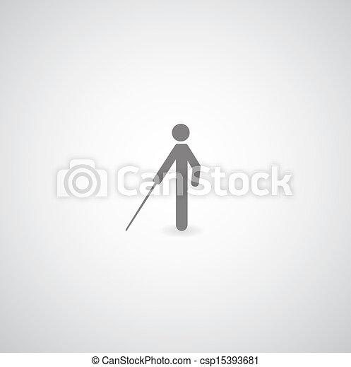 cego, símbolo - csp15393681